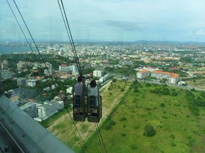 芭堤雅的观光塔俯瞰全景