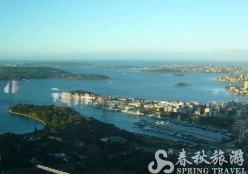悉尼塔外的风光 悉尼市一览无余