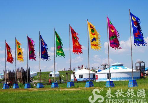 蒙古旗子简笔画
