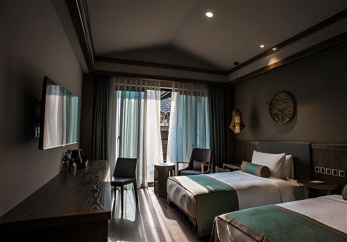 卧室平顶造型图片