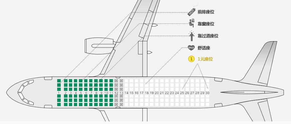 飞机选座位,飞机座位哪里好-春秋航空网